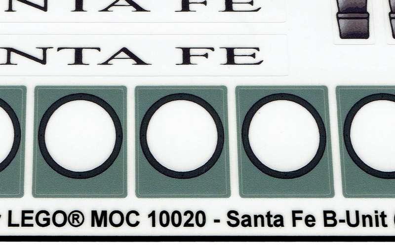 Custom Precut Aufkleber//Sticker passend für LEGO® 10020 SantaFe Super Chief 2002