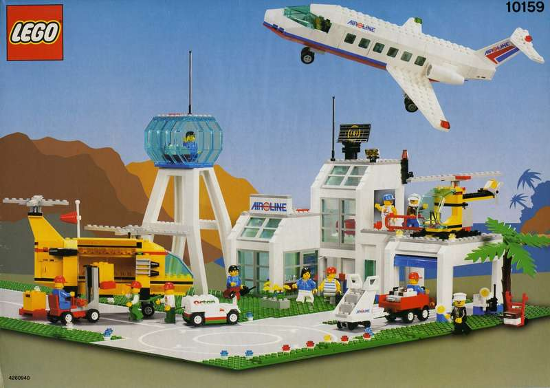 Set 7894  Airport Autocollant aeroport LEGO CITY sticker