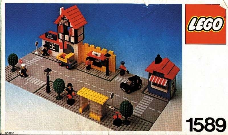 Custom Precut Aufkleber//Sticker passend für LEGO® 1589 Town Traffic Town Square