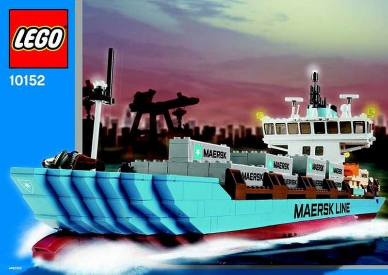 Custom Replacement Stickers for 10152 10155 Maersk Container Ship