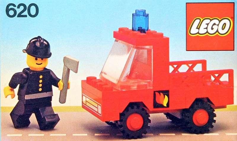 Precut Custom Replacement Stickers for Lego Set 620 Fireman/'s Car 1978