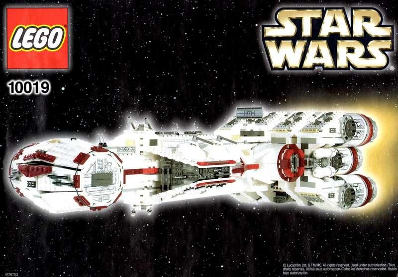 Star Wars Sticker for Lego® 10019 UCS precut Replacement custom transparent