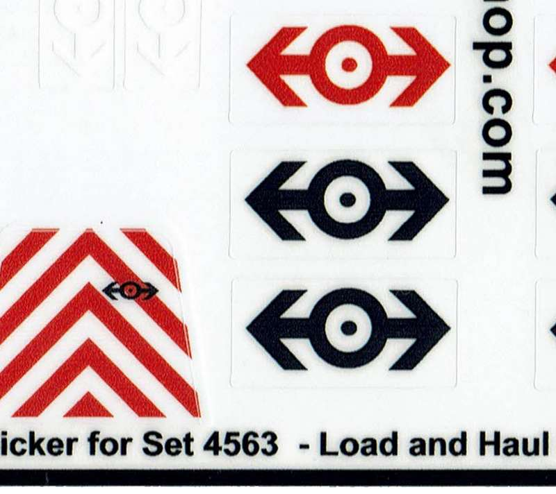 Custom Replacement Stickers for Lego Load n/' Haul Railroad 4563