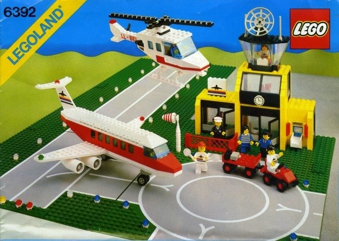 Stunt Copter Replica Sticker for Classic Town Airport set 6515 1994