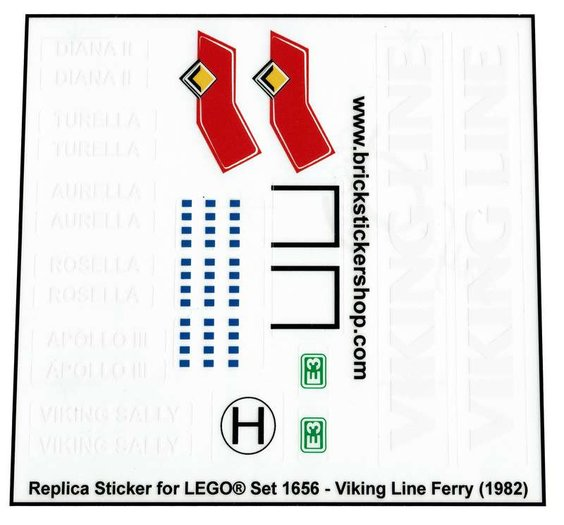 Precut Custom Replacement Stickers voor Lego Set 3678 1982 The Fabuland House