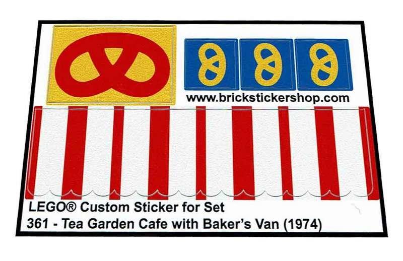 Precut Replica Sticker For Lego Set 361 Tea Garden Cafe With