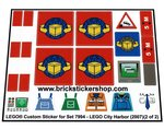 2009 Precut Custom Replacement Sticker voor Lego Set 7642 Garage