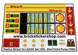 Precut-Replica-Sticker-for-Lego-Set-1256-Shell-Petrol-Pump-(1999)