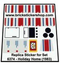 Precut-Replica-Sticker-for-Lego-Set-6374-Holiday-Home-(1983)