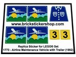 Precut-Replica-Sticker-for-Lego-Set-1773-Airline-Maintenance-Vehicle-with-Trailer-(1992)