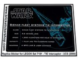Precut-Replica-Sticker-for-Lego-Set-7181-TIE-Interceptor-UCS-(2000)