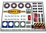 Precut-Replica-Sticker-for-Lego-Set-10020-Santa-Fe-Super-Chief-(2002)(Blue-Version)