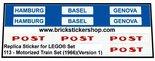Replica-Sticker-for-Lego-Set-113-Motorized-Train-Set-(1966)(Version-1)