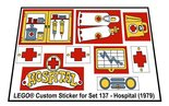Precut-Replica-Sticker-for-Lego-Set-137-Hospital-(1979)