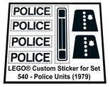 Precut-Replica-Sticker-for-Lego-Set-540-Police-Units-(1979)