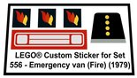 Precut-Replica-Sticker-for-Lego-Set-556-Emergency-Van-(Fire)(1979)