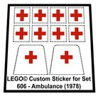 Precut-Replica-Sticker-for-Lego-Set-606-Ambulance-(1978)
