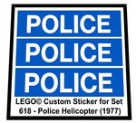 Precut-Replica-Sticker-for-Lego-Set-618-Police-Helicopter-(1977)