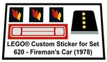 Precut-Replica-Sticker-for-Lego-Set-620-Firemans-Car-(1978)