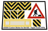 Precut-Replica-Sticker-for-Lego-Set-622-Tipper-truck-(1978)