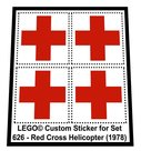 Precut-Replica-Sticker-for-Lego-Set-626-Red-Cross-Helicopter-(1978)