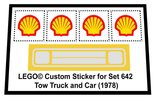 Precut-Replica-Sticker-for-Lego-Set-642-Tow-Truck-and-Car-(1978)