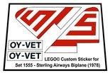 Precut-Replica-Sticker-for-Lego-Set-1555-Sterling-Airways-Biplane-(1978)