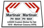 Precut-Replica-Sticker-for-Lego-Set-1610-Martinair-Cessna-(1978)
