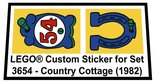 Precut-Replica-Sticker-for-Lego-Set-3654-Country-Cottage-(1982)