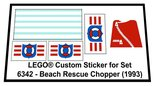 Precut-Replica-Sticker-for-Lego-Set-6342-Beach-Rescue-Chopper-(1993)