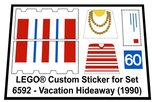 Precut-Replica-Sticker-for-Lego-Set-6592-Vacation-Hideaway-(1990)