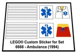 Precut-Replica-Sticker-for-Lego-Set-6666-Ambulance-(1994)