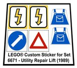 Precut-Replica-Sticker-for-Lego-Set-6671-Utility-Repair-Lift-(1989)