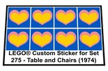 Precut-Replica-Sticker-for-Lego-Set-275-Table-and-Chairs-(1974)