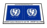 Precut-Replica-Sticker-for-Lego-Set-106-UNICEF-Van-(1985)