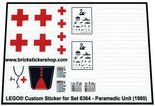 Precut-Replica-Sticker-for-Lego-Set-6364-Paramedic-Unit-(1980)