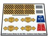 Precut-Replica-Sticker-for-Lego-Set-7823-Container-Crane-Depot-(1986)
