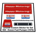 Precut-Replica-Sticker-for-Lego-Set-554-Exxon-Fuel-Pumper-(1979)