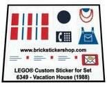 Precut-Replica-Sticker-for-Lego-Set-6349-Vacation-House-(1988)