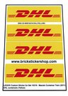 Precut-Custom-Sticker-for-Lego-Set-10219-Maersk-Container-Train-(2011)-DHL-Containers-(Yellow)