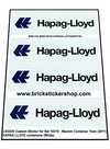 Precut-Custom-Sticker-for-Lego-Set-10219-Maersk-Container-Train-(2011)-HAPAG-LLOYD-Containers-(White)