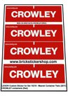 Precut-Custom-Sticker-for-Lego-Set-10219-Maersk-Container-Train-(2011)-CROWLEY-Containers-(Red)