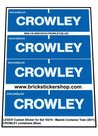 Precut-Custom-Sticker-for-Lego-Set-10219-Maersk-Container-Train-(2011)-CROWLEY-Containers-(Blue)