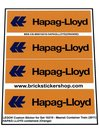 Precut-Custom-Sticker-for-Lego-Set-10219-Maersk-Container-Train-(2011)-HAPAG-LLOYD-Containers-(Orange)