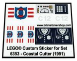 Precut-Replica-Sticker-for-Lego-Set-6353-Coastal-Cutter-(1991)