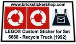 Precut-Replica-Sticker-for-Lego-Set-6668-Recycle-Truck-(1992)