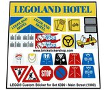 Precut-Replica-Sticker-for-Lego-Set-6390-Main-Street-(1980)