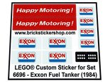 Precut-Replica-Sticker-for-Lego-Set-6696-Exxon-Fuel-Tanker-(1984)