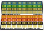 Lego-Custom-Stickers-for-Classic-Space-Brick-1x2-with-Yellow-Grille-Pattern