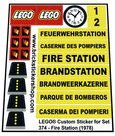 Precut-Replica-Sticker-for-Lego-Set-374-Fire-Station-(1978)